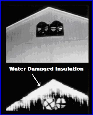 water damaged insulation