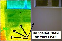 window leak thermal imaging