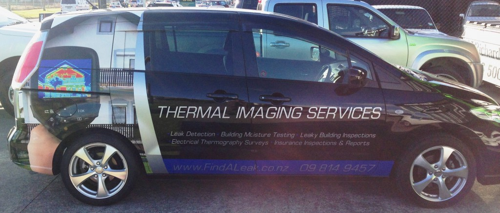 Auckland thermal imaging company car